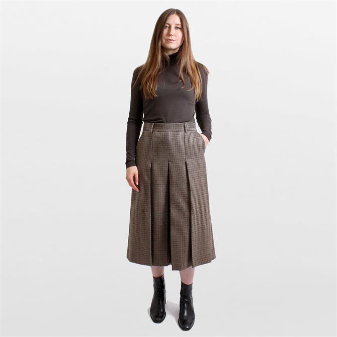 Weekend Max Mara Ortica 100% Wool Tweed Culottes
