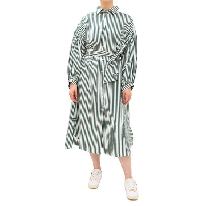 Weekend Max Mara Ragazza Striped Cotton Shirt Dress