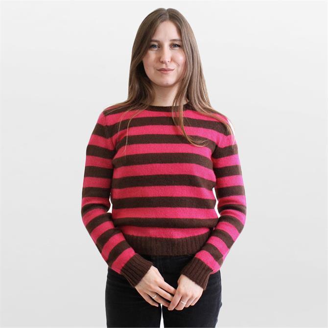 Weekend Max Mara Sagra Striped Mohair Sweater
