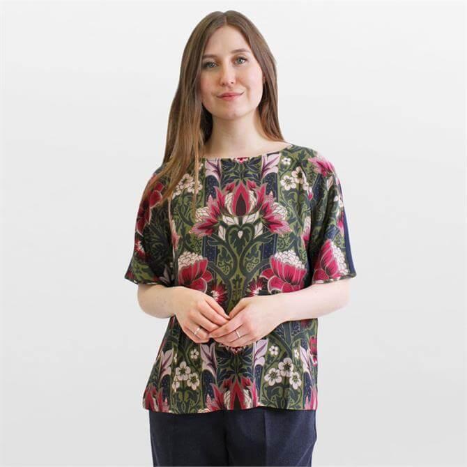 Weekend Max Mara Soledad Silk and Stretch Jersey T-Shirt