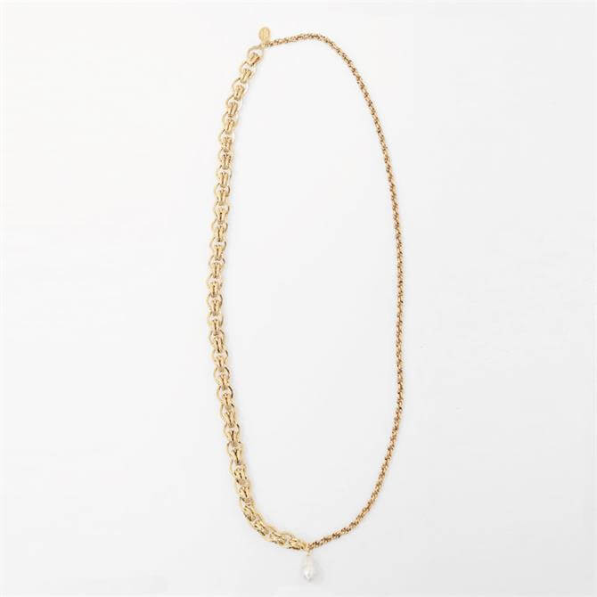 Weekend Max Mara Teheran Vintage Gold Chain Necklace