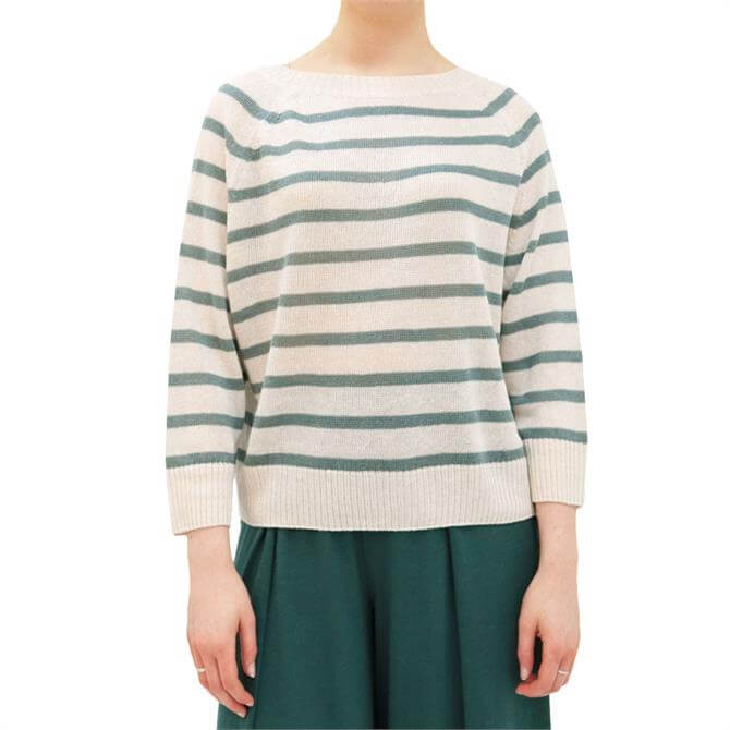 Weekend Max Mara Turku Boat Neck Striped Sweater