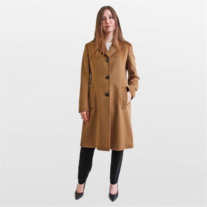 Weekend Max Mara Vincita Caramel Wool Coat