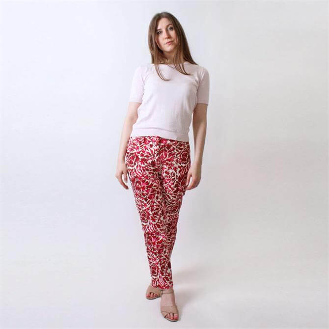 Weekend Max Mara Capras Patterned Cigarette Leg Trousers
