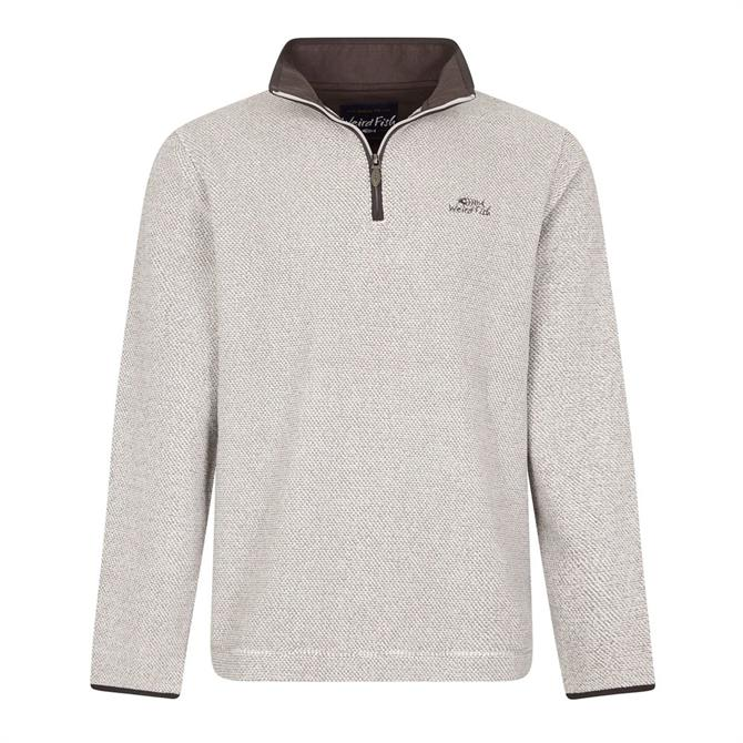 Weird Fish Errill 1/4 Zip Textured Fleece Sweater