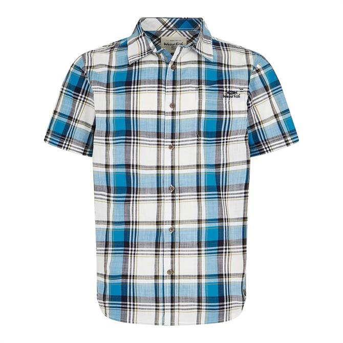 Weird Fish Modbury Short Sleeve Checkered Shirt