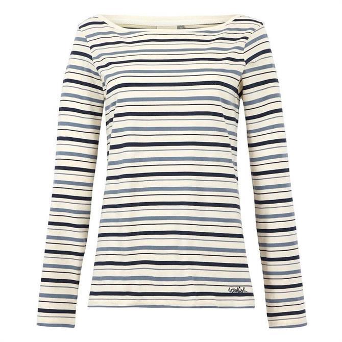 Weird Fish Cecilia Organic Cotton Striped T-Shirt