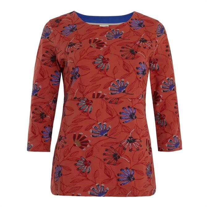 Weird Fish Pinto Printed Jersey 3/4 Sleeve T Shirt