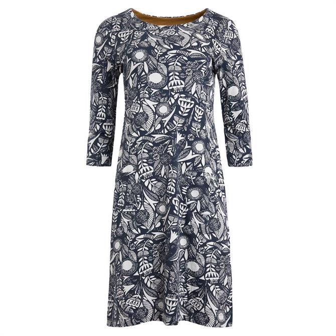 Weird Fish Starshine Organic Cotton Printed Jersey Dress