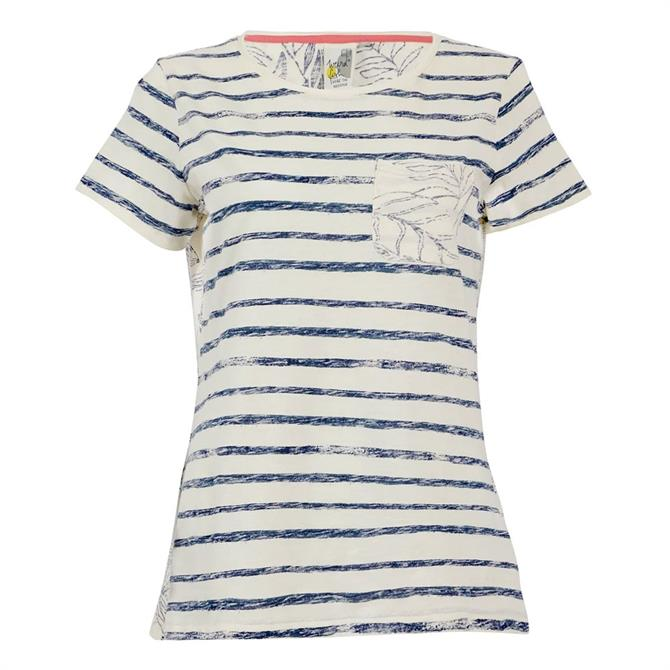 Weird Fish Woodland Organic Cotton Stripe T-Shirt
