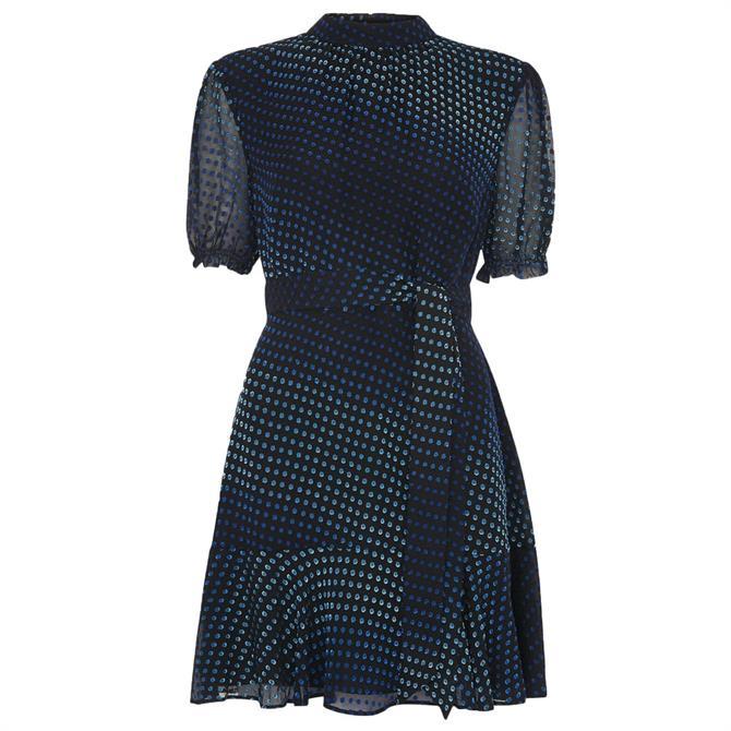 Whistles Gianna Ombre Dobby Mini Dress