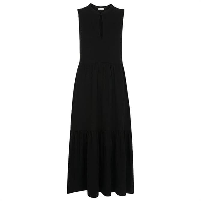 Whistles Black Tiered Jersey Dress