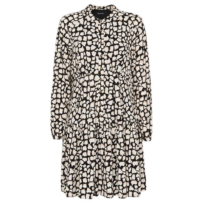 Whistles Giraffe Print Trapeze Dress