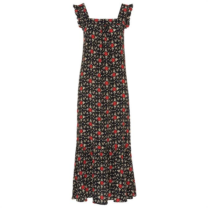 Whistles Block Print Midi Dress