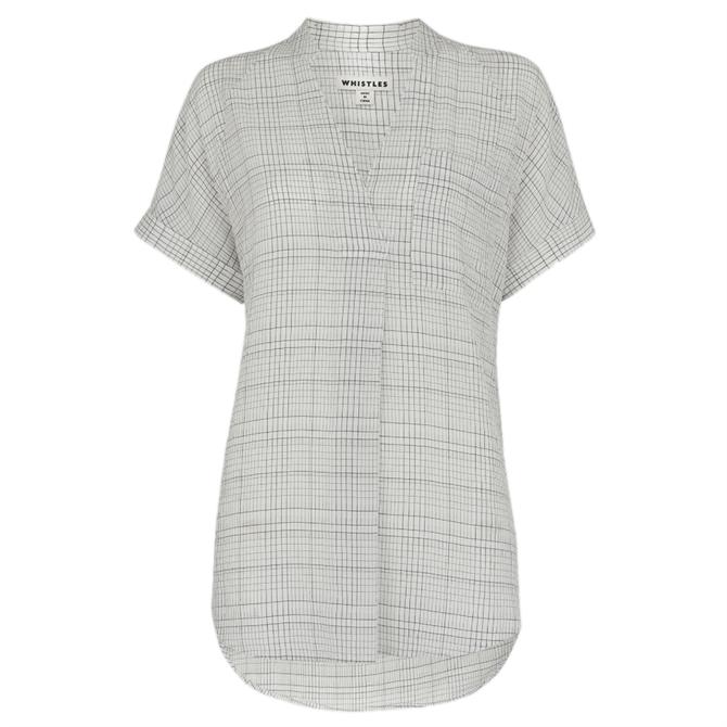 Whistles Lavina Check Pocket Shirt