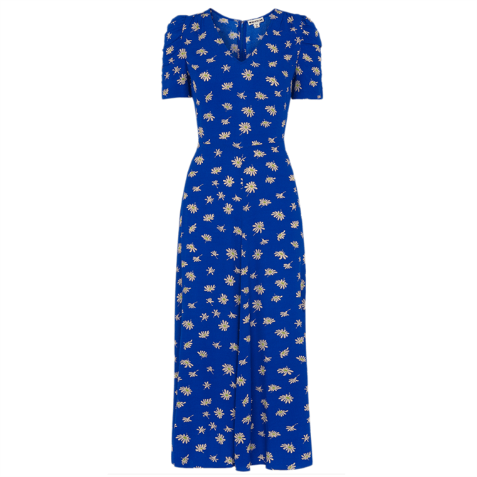 Whistles Scattered Daisy Midi Dress