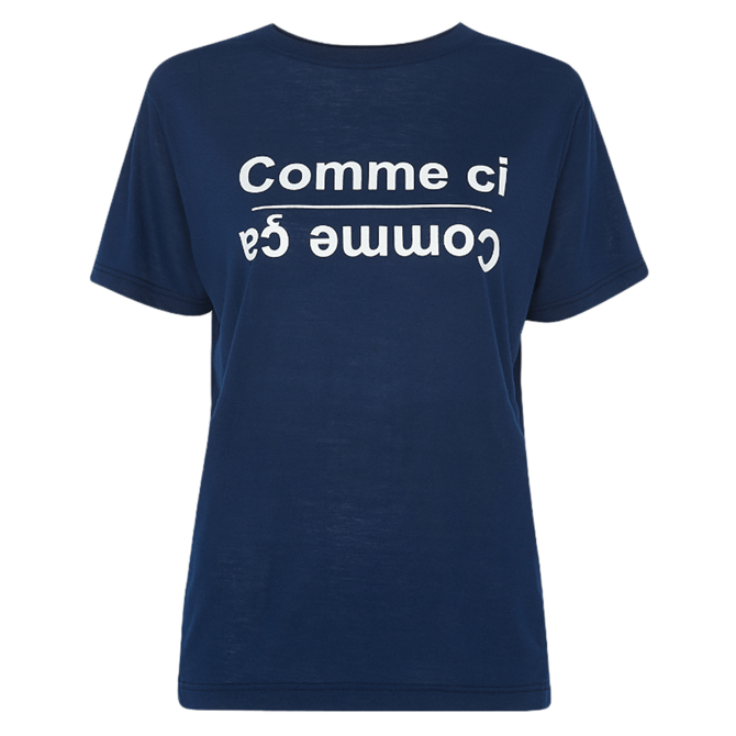 Whistles Navy Comme Ci Comme Ca Logo T-Shirt