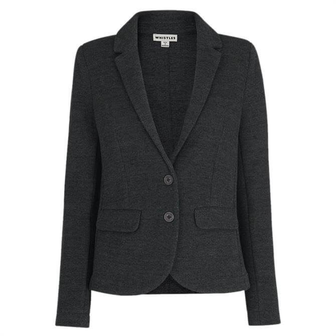 Whistles Dark Grey Slim Jersey Jacket