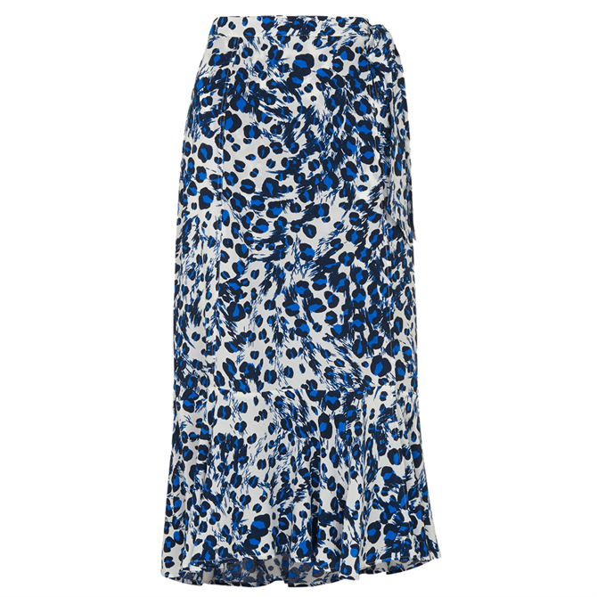 Whistles Brushed Leopard Wrap Skirt