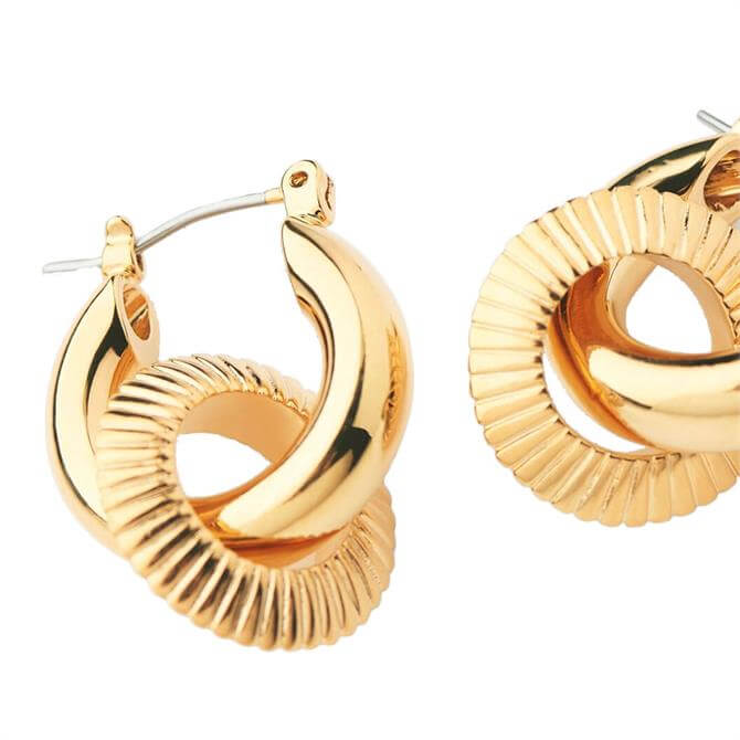 Whistles Textured Double Tube Hoop Earrings