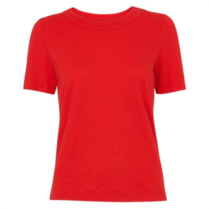 Whistles Rosa Double Trim Red T-Shirt