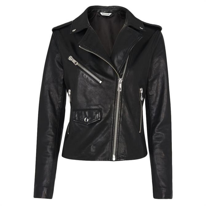 Whistles Agnes Pocket Leather Jacket