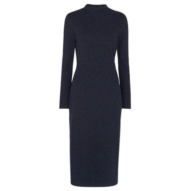 Whistles Animal Jacquard Jersey Dress