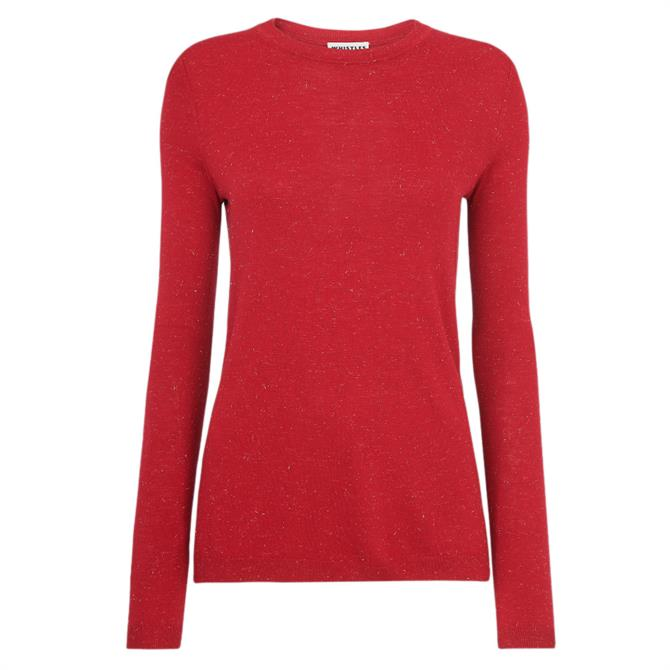 Whistles Annie Red Sparkle Knit Jumper