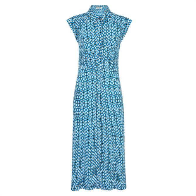Whistles Astrix Floral Blue Dress