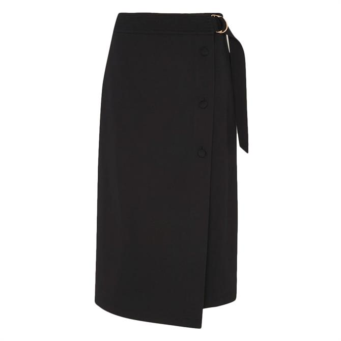 Whistles Belted Ponte Wrap Skirt