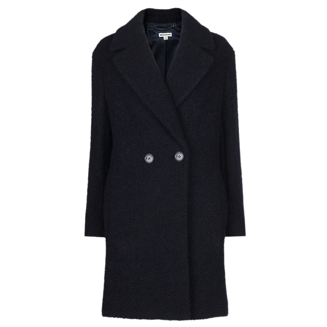 Whistles Boucle Double Breasted Coat