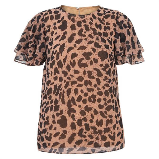 Whistles Brushed Cheetah Shell Top