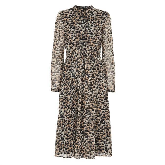 Whistles Brushmark Animal Print Dress