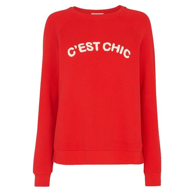 Whistles Cest Chic Logo Sweatshirt