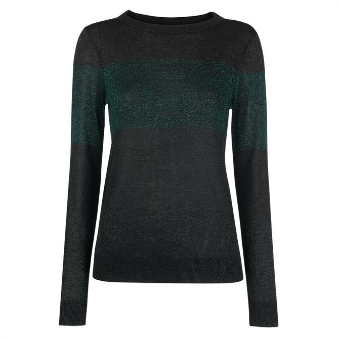 Whistles Colour Block Sparkle Knit