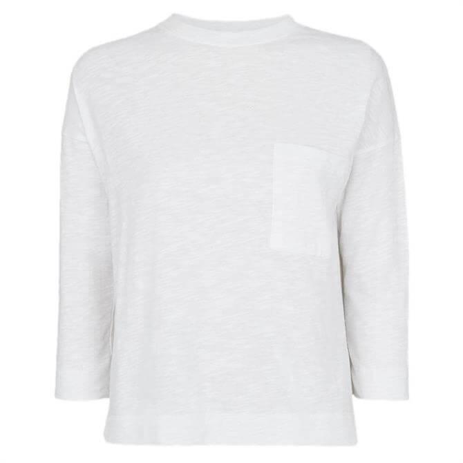 Whistles White Cotton Pocket Top
