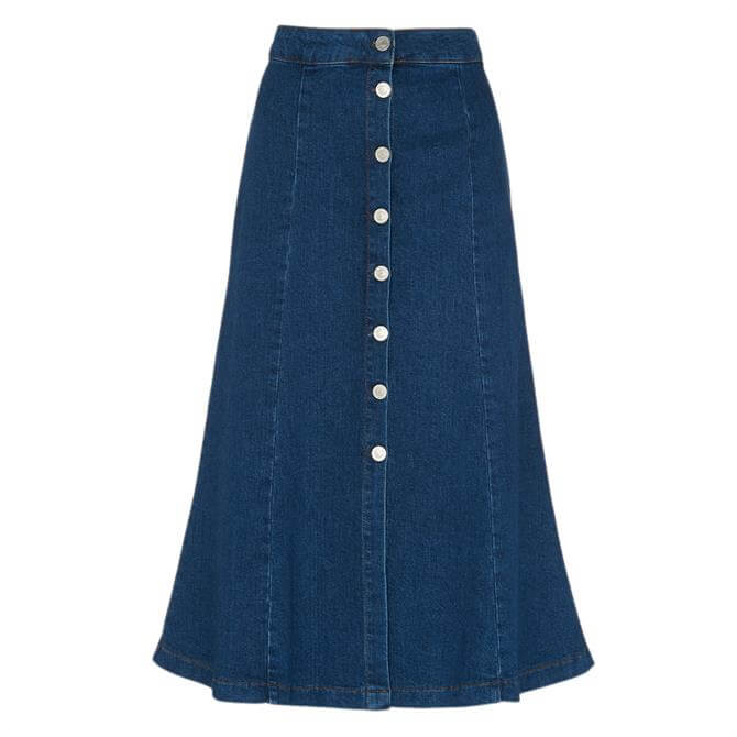 Whistles Denim Button Through Skirt