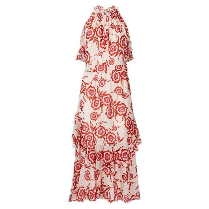 Whistles Devina Diagonal Floral Dress