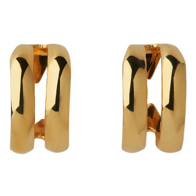 Whistles Mini Double Hoop Earrings