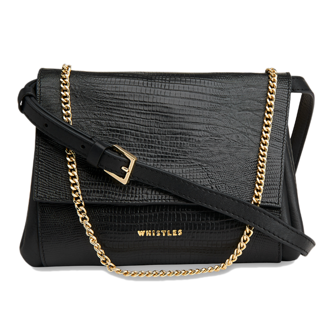 Whistles Eleni Lizard Crossbody Bag