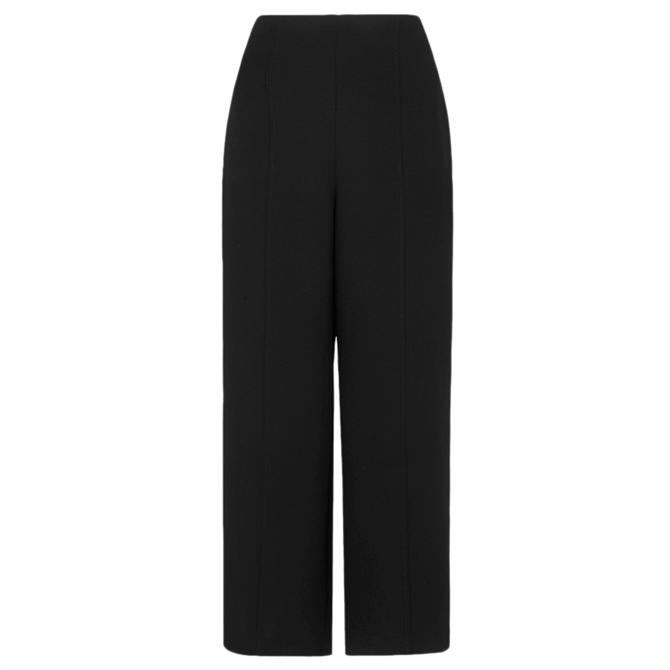 Whistles Flat Front Black Crop Trouser