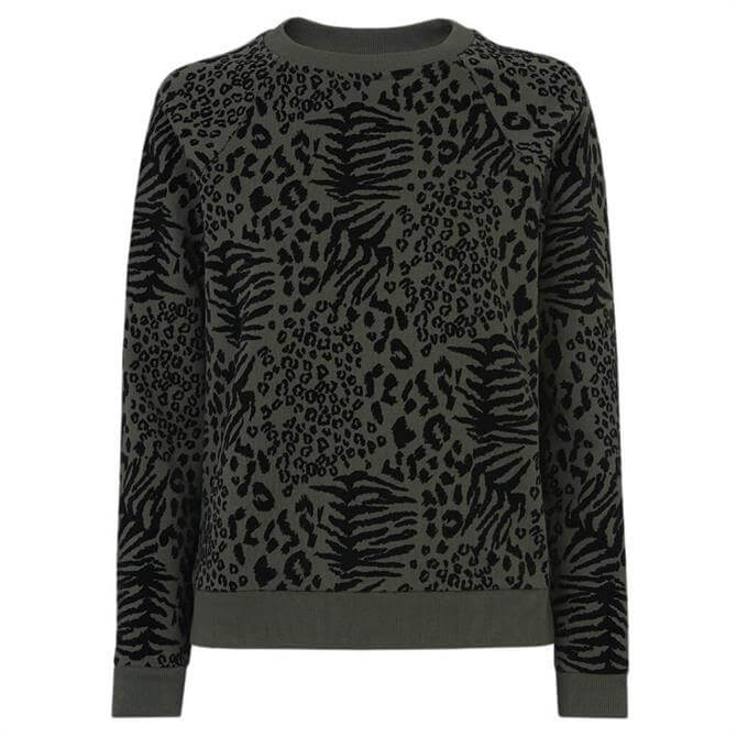 Whistles Flocked Animal Sweatshirt