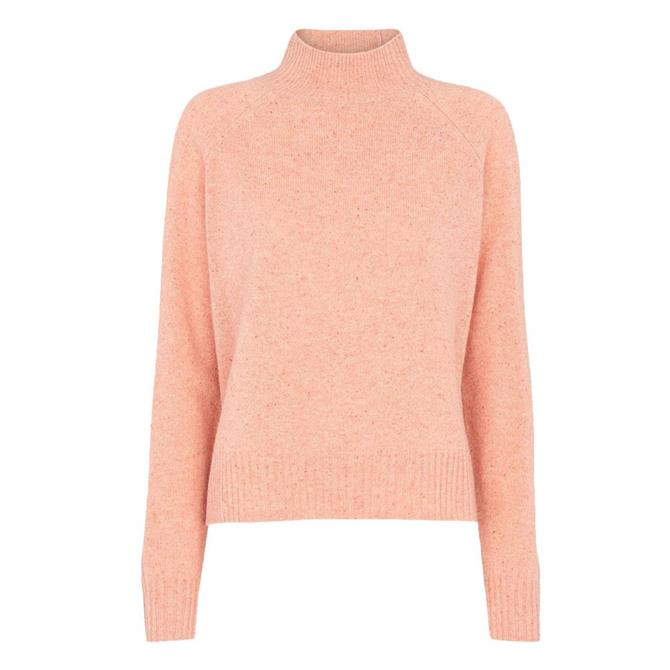 Whistles Funnel Neck Flecked Knit Jumper