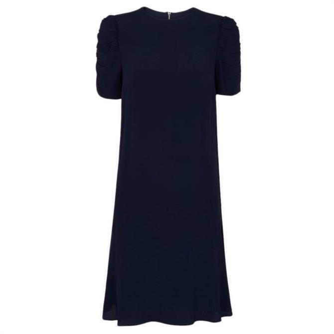 Whistles Georgina Shoulder Detail Zip Dress