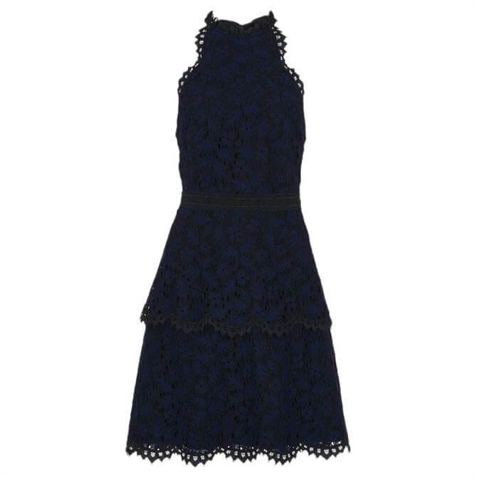 Whistles Halter Neck Talie Lace Dress