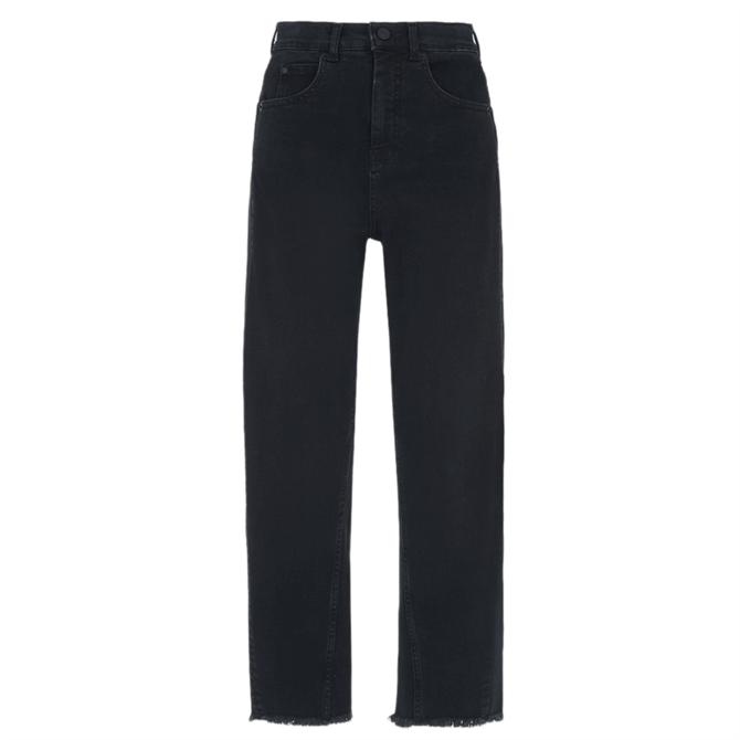 Whistles Black High Waisted Barrel Leg Jeans