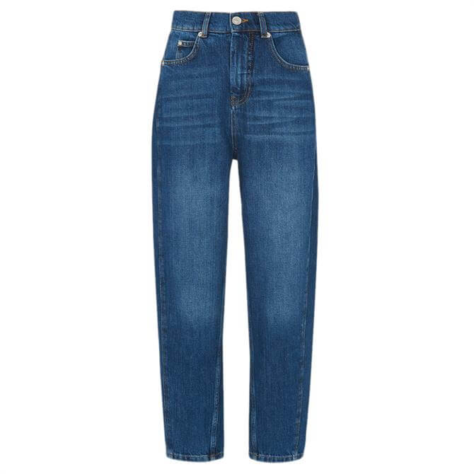 Whistles High Waist Barrel Leg Denim Jeans