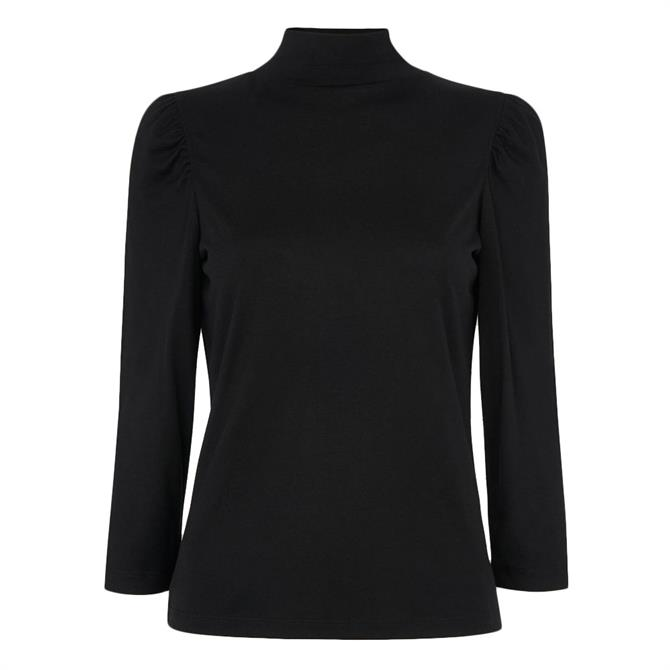 Whistles High Neck Puff Sleeve Top