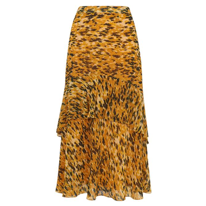 Whistles Ikat Animal Midi Skirt