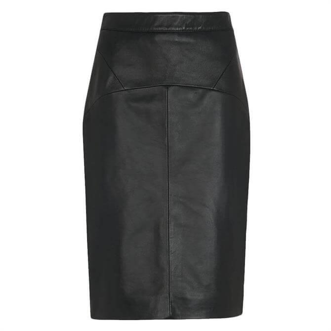 Whistles Kel Leather Pencil Skirt